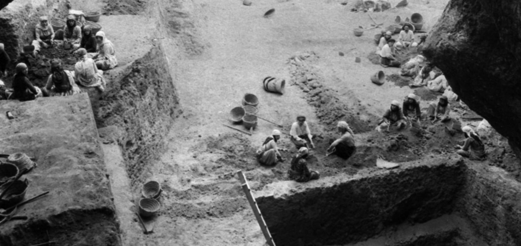 This image shows the depth of Garrod's excavations in the final 1934 season at Tabun.