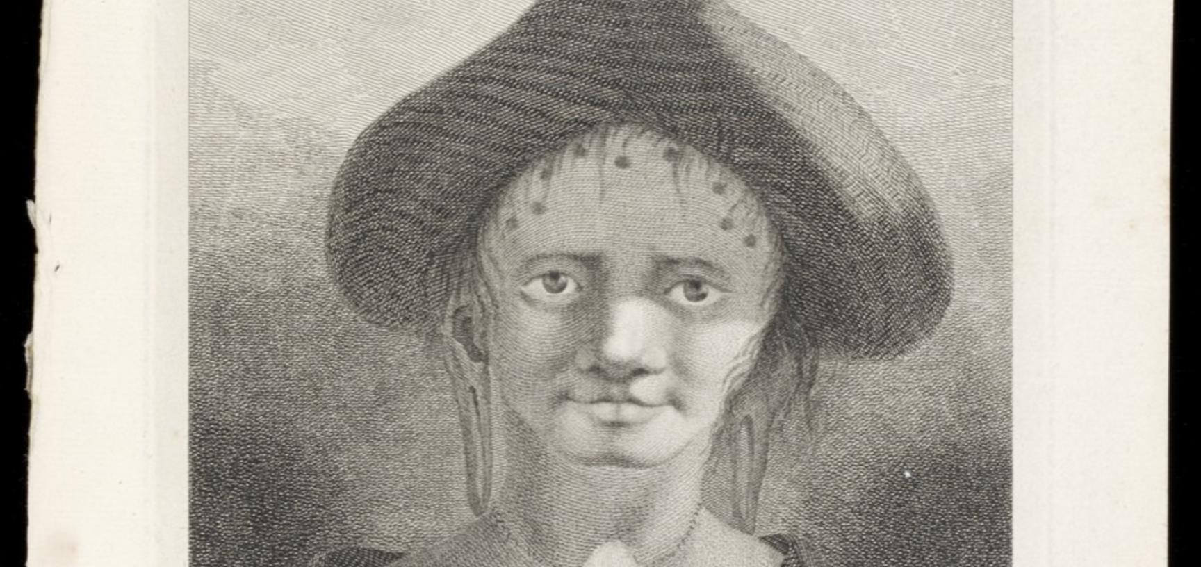 Woman of Rapa Nui (Easter Island) (name unknown), engraved for publication by James Caldwell after an original drawing by William Hodges.