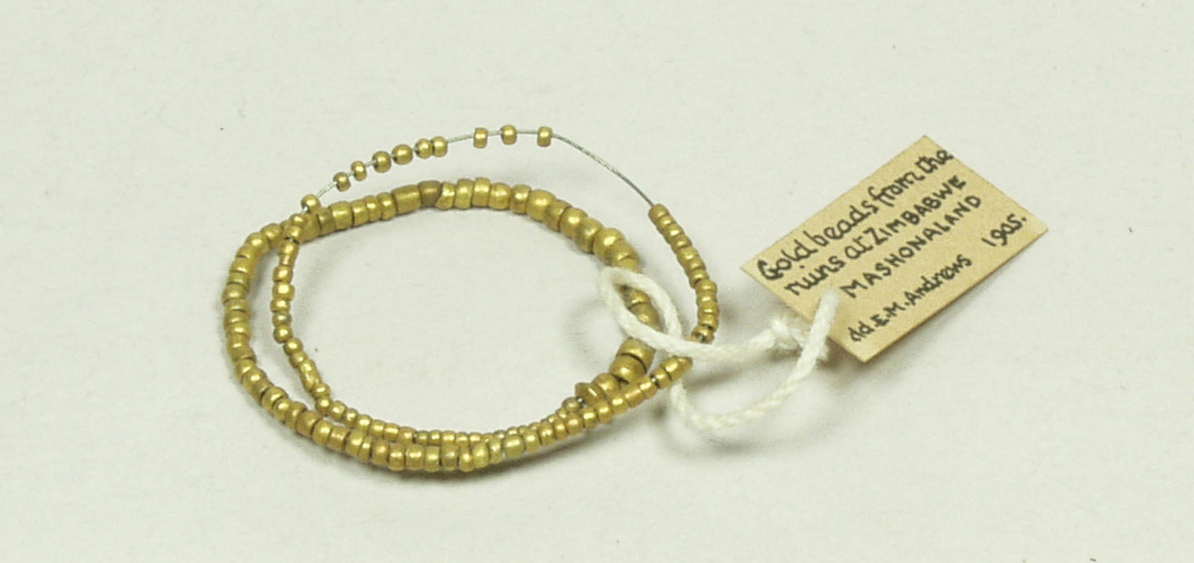 Gold beads from Great Zimbabwe