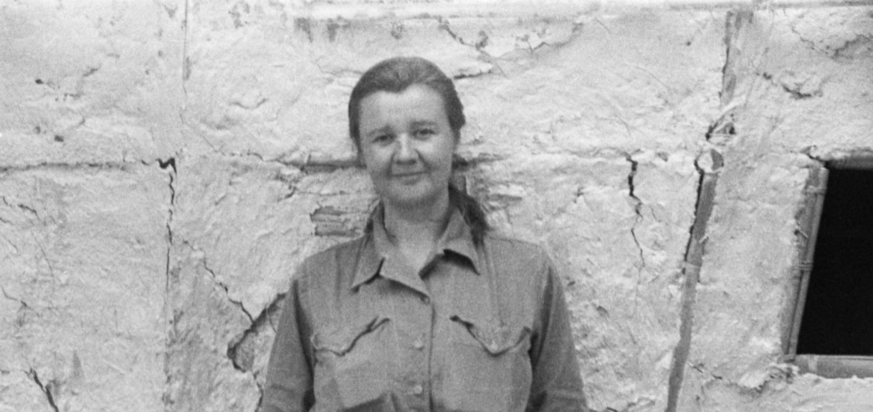 Portrait of Ursula Graham Bower taken in Arunachal Pradesh, India, circa 1947–1948. Photographer unknown. Negative donated by Ursula Violet Graham Bower to the Pitt Rivers Museum in 1985. (Copyright Pitt Rivers Museum, University of Oxford. Accession Numb