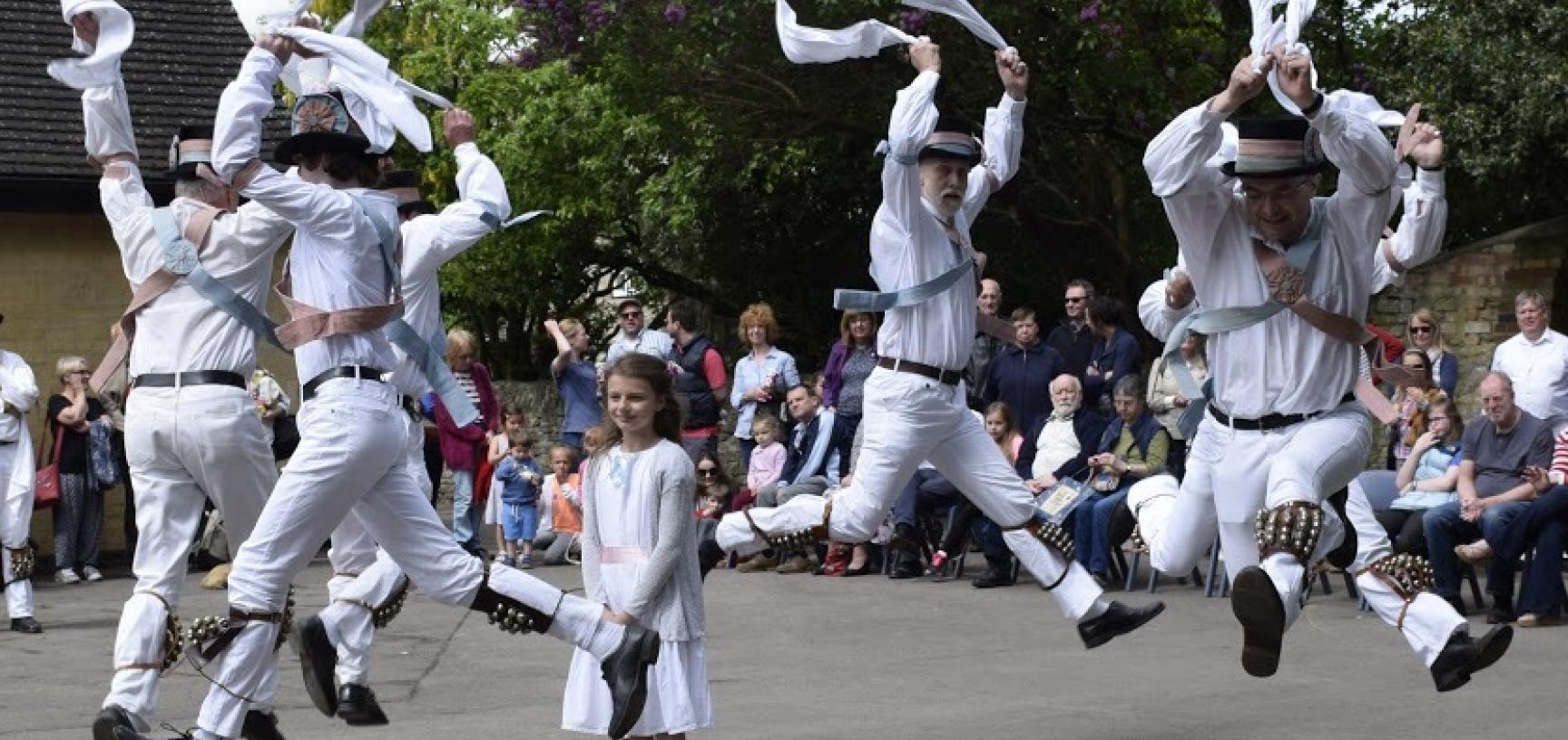 Dancing at the Kirtlington Lamb Ale 2016. (Courtesy Kirtlington Morris)