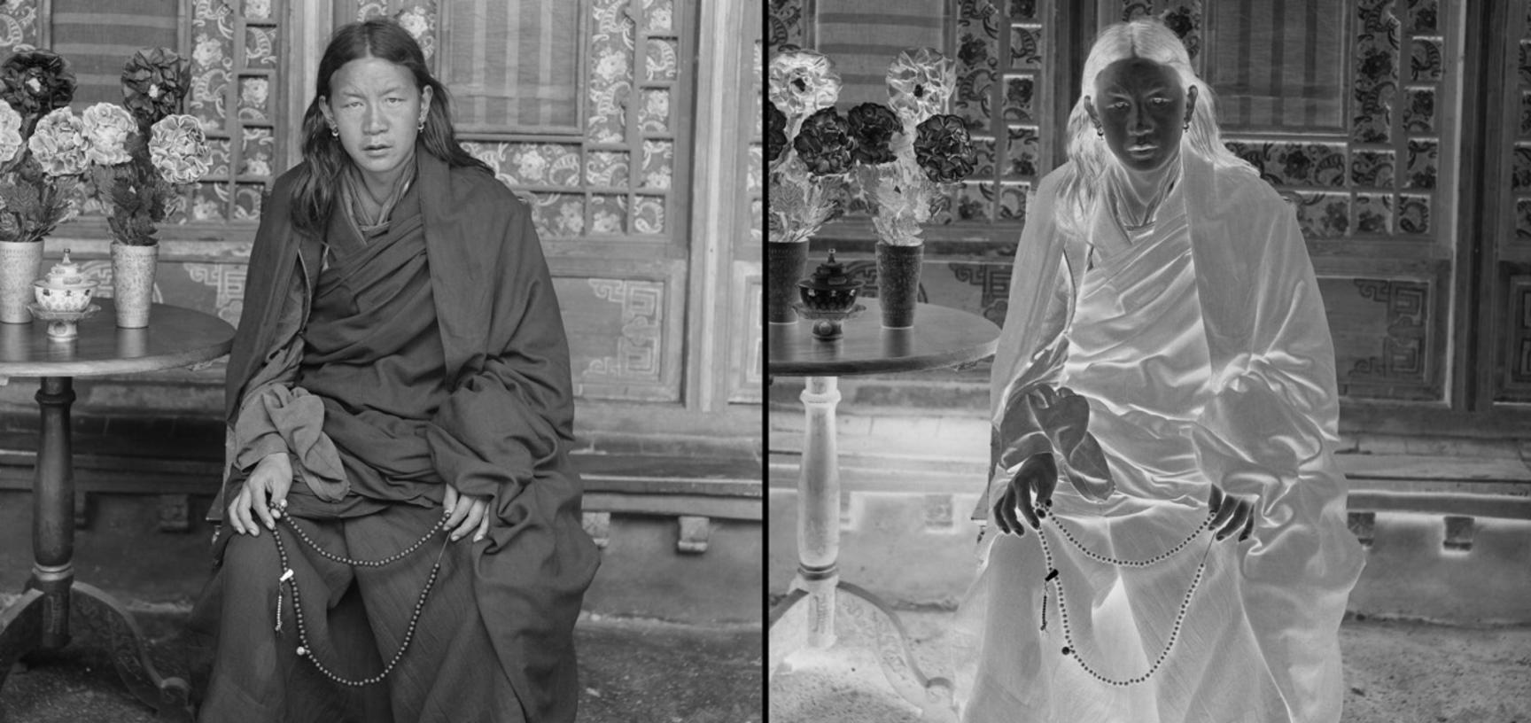 Nyingma monk. Photograph by Rabden Lepcha. 1920–1921.