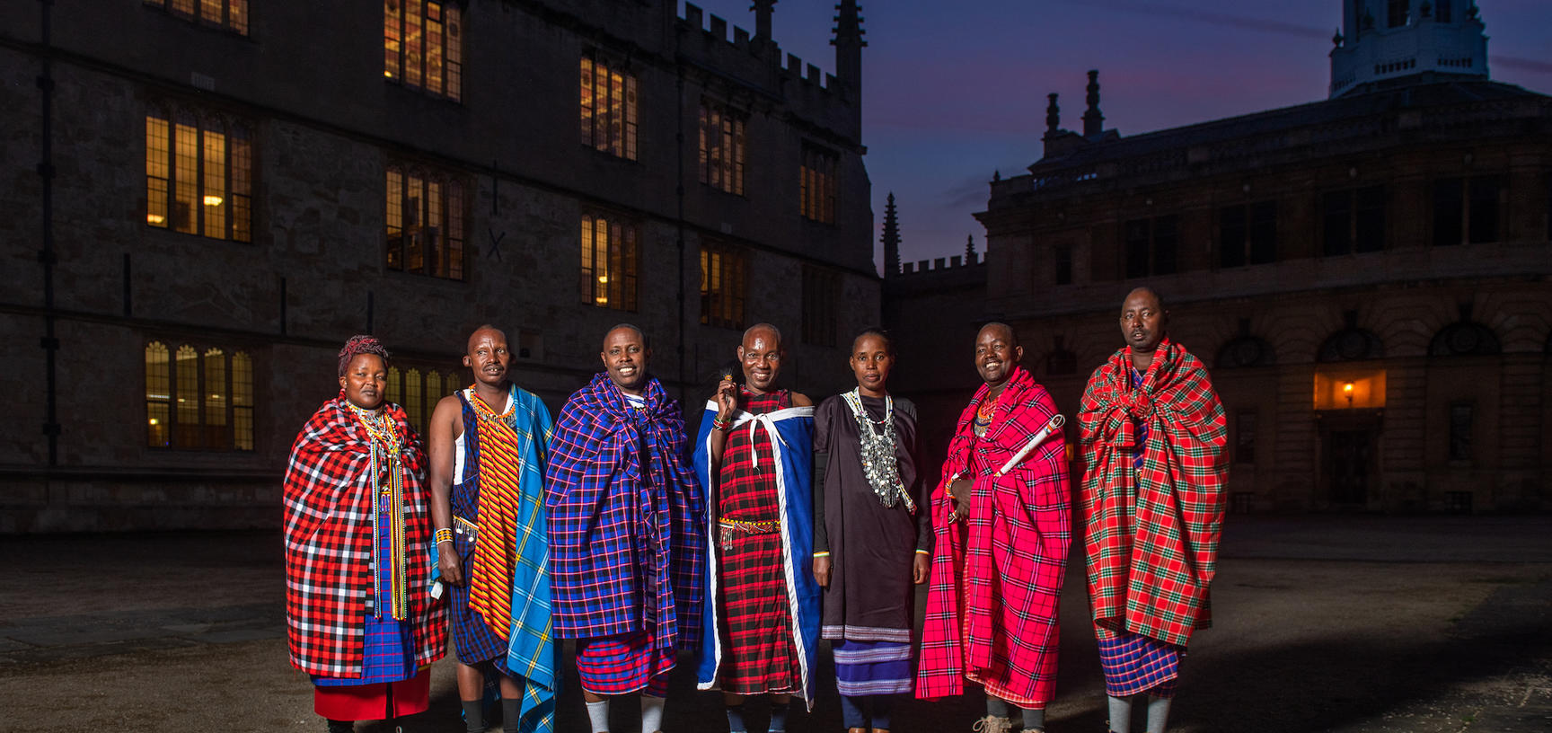 Maasai group at the Bodleian Library, Oxford