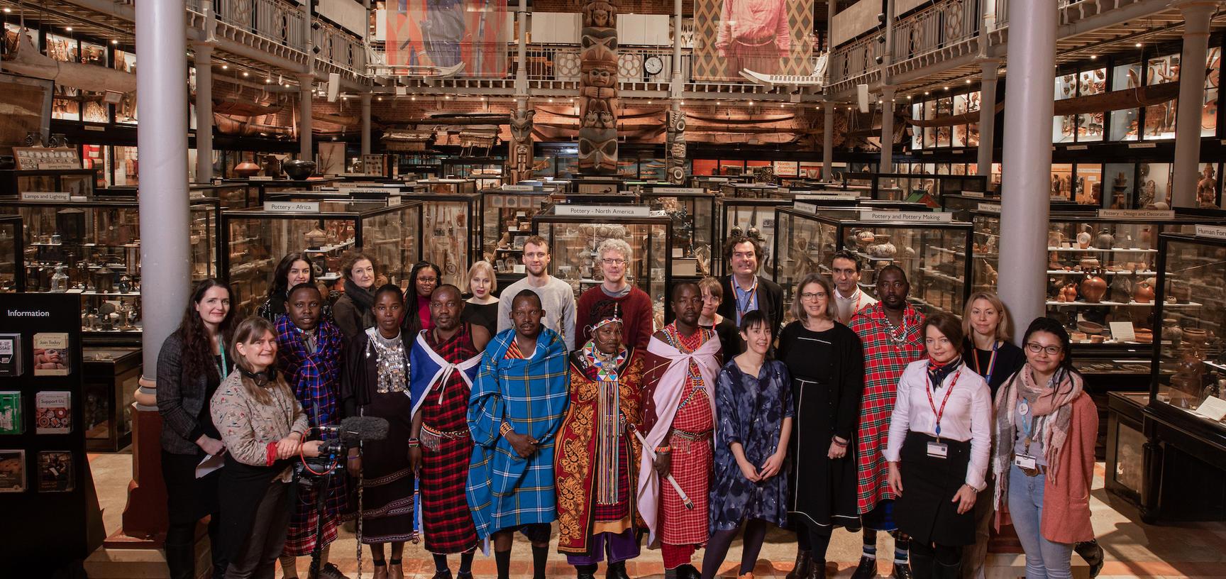 Maasai group with PRM staff and associates
