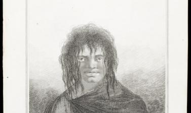 Yaghan man of Tierra del Fuego (name unknown), engraved for publication by James Basire after an original drawing by William Hodges. (Copyright Pitt Rivers Museum, University of Oxford. Accession Number: 2013.28.132)