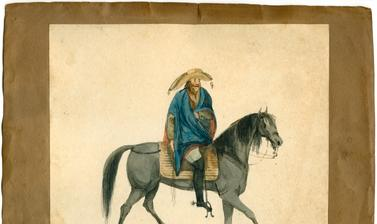 A mounted muleteer, one of a series of Brazilian types from Rio de Janeiro.