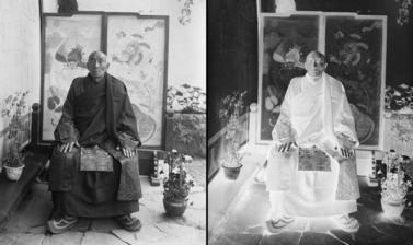 The Chikyak Khenpo or Lord Chamberlain. Photograph by Charles Bell or Rabden Lepcha. 1921.