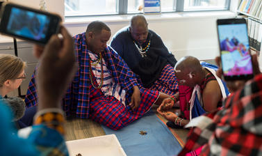 Maasai group in Director's office