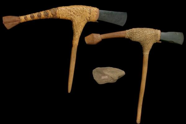 Two axes and a grindstone