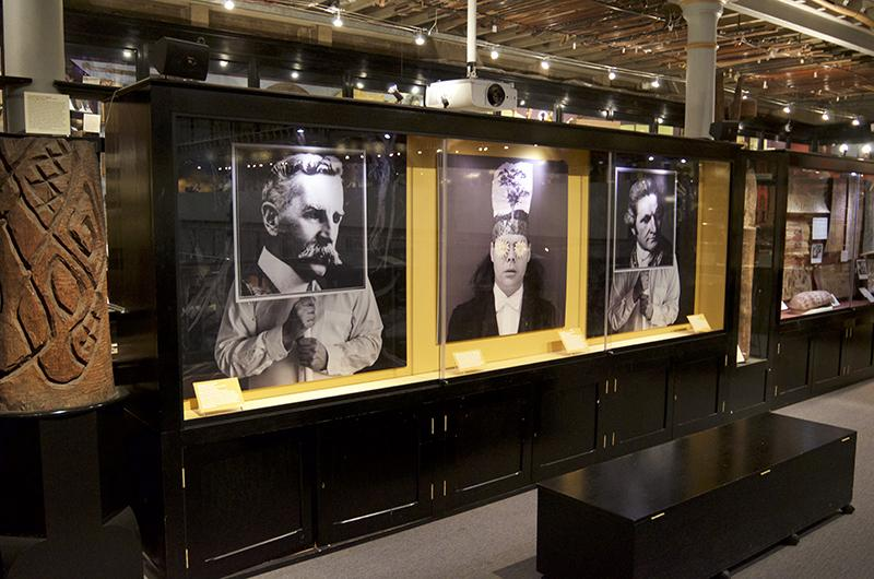 Thompson display Lower Gallery Pitt Rivers