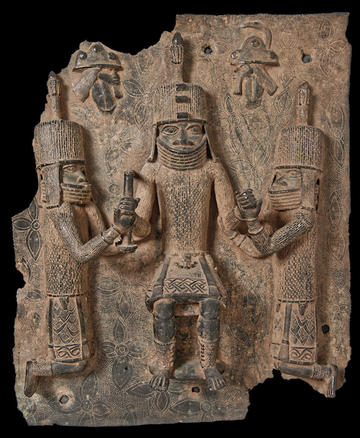 Bronze Plaque looted from Royal Palace of Benin [1907.66.1]